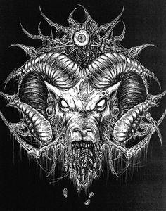 Dark art for our inner demons Arte Horror, Horror Art, Dark Fantasy, Fantasy Art, Art Noir, Satanic Art, Arte Obscura, Occult Art, Baphomet