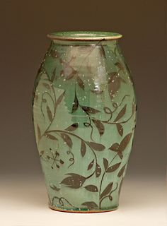 """Michael Kline Vase - """"Cousins in Clay"""" at Bulldog Pottery in Seagrove, NC, on June 1-2, 2013"""