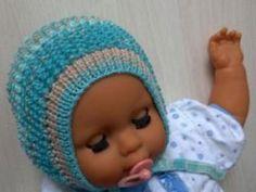 bonnet knitting needles for a newborn (Scheme video)