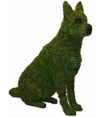 Awesome! Sitting German Shepherd Mossed Topiary Frame