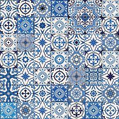 Samless padrão de Marrocos, azulejos portugueses, Azulejo, enfeites. - arte…: