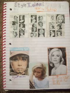 Overpowered By Funk: Having a style plan. Full of tips! This particular page of my style journal has a lot of Sandra Dee inspiration, and one odd photo out.