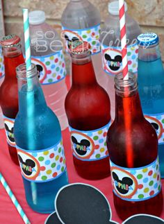 Mickey-Mouse-Clubhouse-Birthday-Party-Beverages