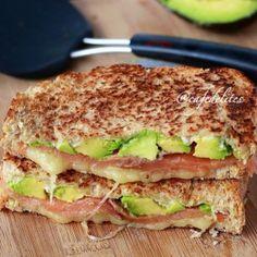 Smoked Salmon & Avocado Grilled Cheese Stack - Cafe Delites