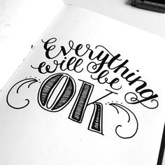 Handlettering Everything will be ok