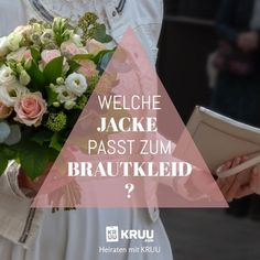 Der schönste Tag im Leben wartet, das Hochzeitskleid passt, aber du brauchst noch eine Jacke? Hier verraten wir dir, welche zu deinem Kleid passt! Lies nach!  #heiraten #hochzeitsoutfit #brautkleid #jackezumkleid #fashion #ehe #kruu #kleid Table Decorations, Tricks, Tableware, Jacket Dress, Getting Married, Marriage, Nice Asses, Guest Gifts, Dinnerware