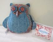 Ozella the Owl, Stuffed Animal, Stuffie, Pillow, Room Decor, One-of-a-kind, Handmade. $25.00, via Etsy.