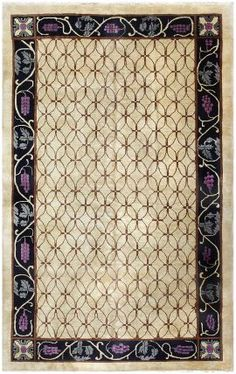 Art Deco Chinese Rug 50179 by Nazmiyal Collection Vintage Rugs, Vintage Art, Art Deco Rugs, Golden Pattern, Carpets Online, Chinese Art, Chinese Rugs, Indian Rugs, Beaded Curtains