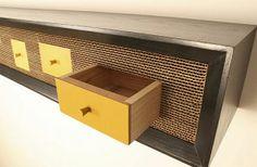 Closet cardboard furniture design
