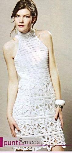 Patrón #1376: Vestido a Crochet #ctejidas http://blgs.co/93I14d