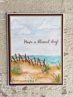 Rubbernecker Stamps inspiration gallery is here! It will give you ideas galore for cards using Rubbernecker stamps. There is inspiration from the whole desi Beach Watercolor, Watercolor Cards, Watercolor Landscape, Watercolour, Beach Drawing, Art Impressions Stamps, Beach Cards, Sea Theme, Beach Scenes