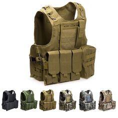 e9d127ce718 Go shopping for best price USMC Airsoft Tactical Military Molle Combat  Assault Plate Carrier Vest Tactical vest 7 Colors CS outdoor clothing.