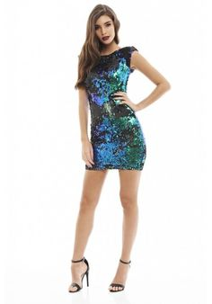 Iridescent Sequin Bodycon Dress