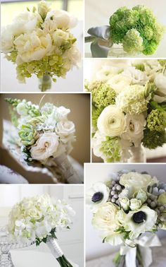Green and White Wedding Flowers. This is the style of wedding bouquet that I want