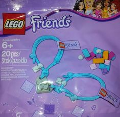 New bracelet for 2014 - connecting plates creates a heart! Check LEGO Friends events at stores for this item.