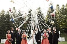 a great bridal party shot! | colorful calimigos ranch wedding by jennifer roper | www.jenniferroper.com