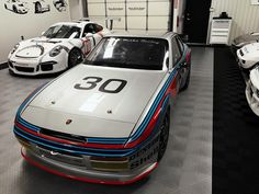 A very interesting mix in the shop this Monday. (at Motor Werks Racing: Exclusively Porsche)