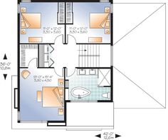 Stately Modern with Garage - 22322DR   Architectural Designs - House Plans