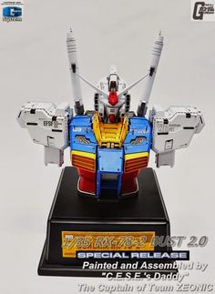 G-System 1/35 RX-78-2 Gundam Ver. 2.0 Bust - Painted Build Modeled by jjhangel777