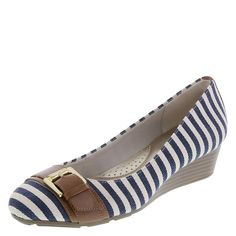 Navy/White stripes with camel accents