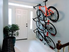 Meanwhile, the bike hook set also includes two additional shelves for the wheels.