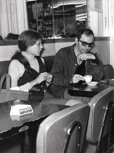 Anne Wiazemsky and Jean Luc Godard