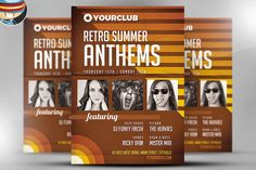 Retro Anthems Flyer Template by FlyerHeroes on @creativemarket