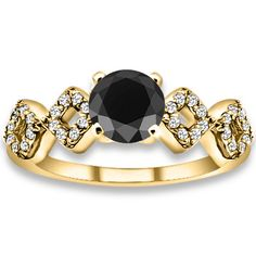 1.16 Carat 14k A Black, SI Clarity Diamonds Engagement Rings #diamondsrings #jewelry @diamond Zul www.pricepointshop.com/product.asp?idproduct=48605