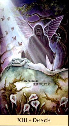 Love the use of the ankh in this Death card from  Crystal Visions Tarot menageatarot.com