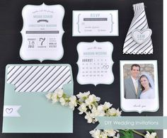 Silhouette Blog: DIY Wedding Invitations