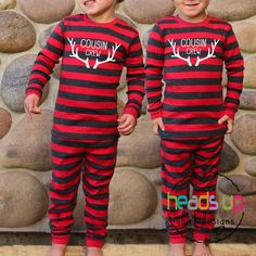 Christmas Pajamas Cousin Crew - Boy or Girl Cousin Christmas Pajamas - Kids  Christmas PJs Family Reu d9fed09f1