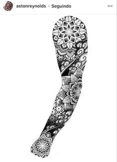 Dotwork Tattoo Mandala, Geometric Mandala Tattoo, Mandala Tattoo Sleeve, Mandala Tattoo Design, Geometric Tattoo Sleeve Designs, Full Sleeve Tattoo Design, Forearm Tattoos, Body Art Tattoos, Hand Tattoos