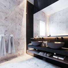 "1,942 gilla-markeringar, 23 kommentarer - Eklund Stockholm New York (@eklundstockholmnewyork) på Instagram: ""This bathroom though ✨ #esnyinspo"""