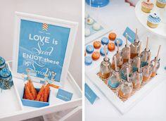 Chevron Dessert Buffet fit for a wedding by Little big Company #ModernWedding #Australia #Milkbottles #Chevron