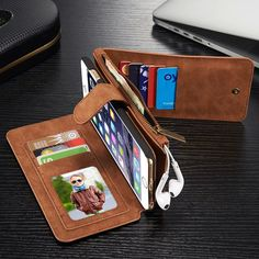 Leather Cover Case for iPhone 6 6s Plus Genuine Cow Leather Wallet Phone Bags Cases Holster Business Women Mens Card Slot Pouch //Price: $US $15.00 & FREE Shipping // #iphone