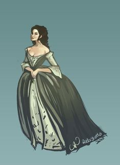 relsgrotto:Claire, from Outlander in her wedding gown