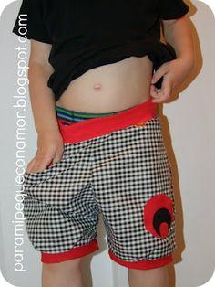 Pantalón bombacho con bolsillos. Patrón y tutorial