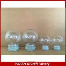 cheap wholesale empty snow globe dome with rubber plug