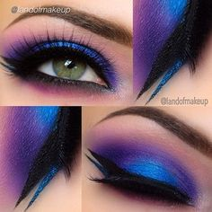 10 Bright Eye Makeup Ideas To Make a Statement! 10 Bright Eye Makeup Ideas To Make a Statement!,Lidschatten Magnificent Blues and Purples ❤'d by makeupartistrycai… To have radian eyes for the perfect eye makeup. Gorgeous Makeup, Pretty Makeup, Love Makeup, Makeup Inspo, Makeup Inspiration, Beauty Makeup, Hair Makeup, Awesome Makeup, Makeup Hairstyle