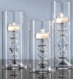 Glass Candlestick Cylinders