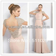 OC-1769 Stunning high neck low back elegant light pink arabic evening gowns dresses long $168.00