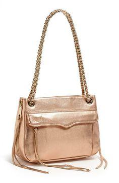 Cyber Monday Deal: Rebecca Minkoff Rose Gold Shoulder Bag, 40% Off
