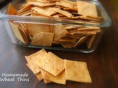 . .  Homemade Wheat Thin Crackers...King Arthur Flour  I am so  glad I stumbled upon this recipe recently. Homemade Wheat Thins... I simply ...