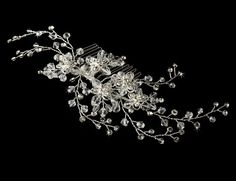 Marzia Swarovski Crystal Wedding Bridal Hair Comb >>> Click image to review more details.