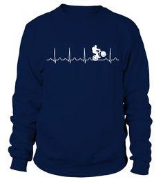 Cycling   Mountainbike Heartbeat  T shirt