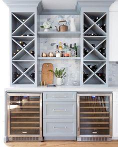 Built in wine bar