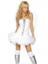 Costume blanc bustier robe ange