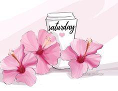 rose hill designs by heather stillufsen Happy Weekend, Happy Day, Rose Hill Designs, Illustration Mignonne, Hello Saturday, Saturday Morning, Weekend Quotes, Happy Saturday Quotes, Thursday Quotes