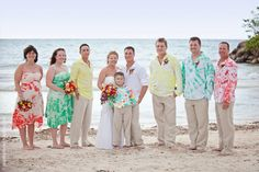 Unique tie-dye wedding party dresses and suits