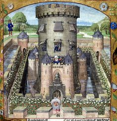 Castle of Jalousie. Guillaume de Lorris and Jean de Meun  Title Roman de la Rose. Origin Netherlands, S. (Bruges)  Date c. century. XV.